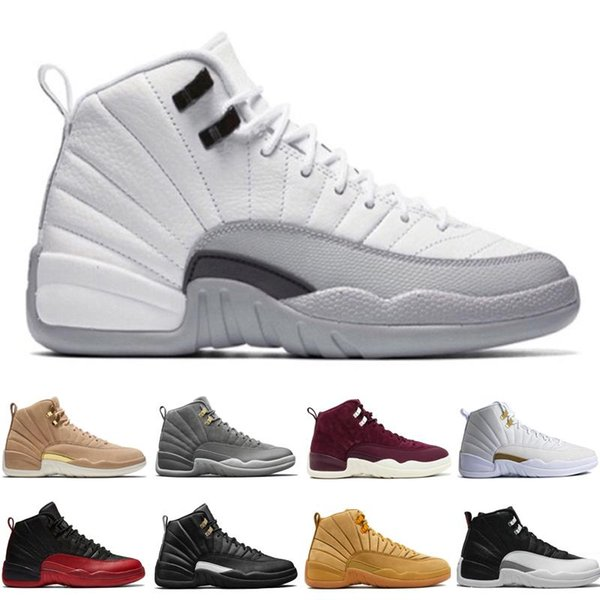 04d48d81af8b12 Cheap 12 12s mens basketball shoes Wheat Dark Grey Bordeaux Flu Game The Master  Taxi Playoffs