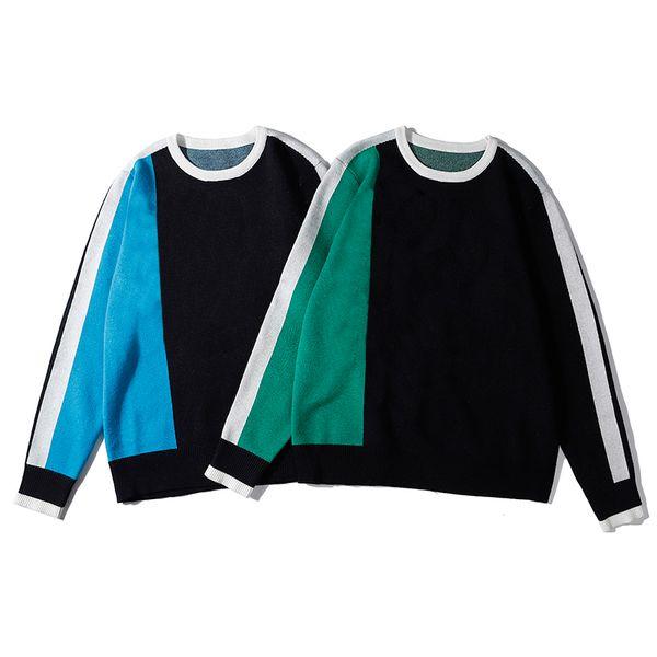 Maglioni pullover di lusso da uomo da donna Designer Contrasto Colore Autunno Primavera Maglione girocollo Alta moda Top Alta qualità B100270V