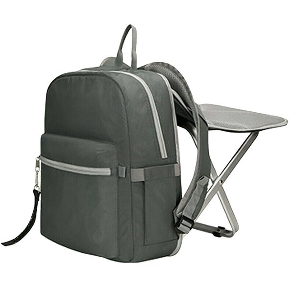 Camping Travel Folding Chair Backpack Wearable Outdoor Stool Bag Waterproof Wearable and Detachable