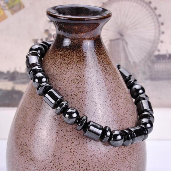 Naturstein Magnetische Hämatit Gesundheit Armband für Frauen Männer Schwarz Magnetit Malachit Power Crystal Healing Bangle geschenk Freies Verschiffen