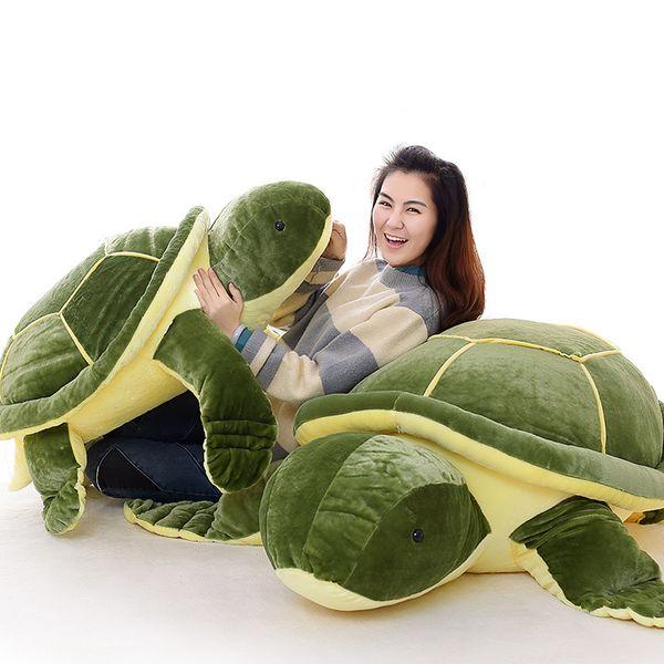 Dorimytrader Jumbo Animal Tortoise Stuffed Toys Doll Soft Giant Plush Animal Turtle Toy Pillow for Children Gift 59inch 150cm DY60824