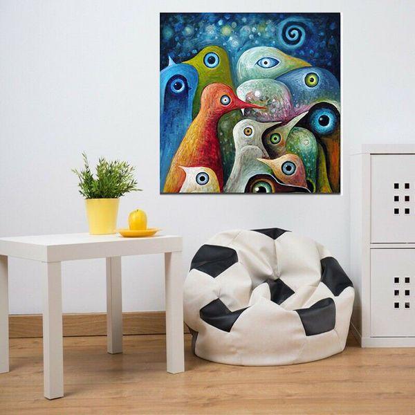 Высокое качество 100% расписанную Современная Абстрактная живопись маслом на холсте животных Картина Птица стены дома Декор Искусство AMD-80