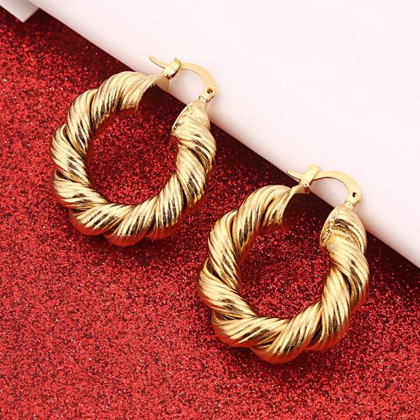 Boucles d'oreilles Afrique pour les femmes couleur or boucles d'oreilles fille bijoux arabe Moyen-Orient cadeau