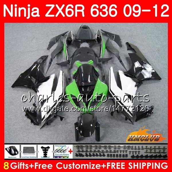 KAWASAKI NINJA ZX636 ZX 6R ZX-6R 2009 2010 2011 2012 33HC.50 ZX600 ZX 636 600CC 6 R ZX-636 yeşil siyah ZX6R 09 10 11 12 Kaplamalar