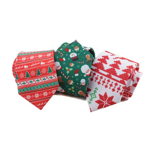 Noel Tie, Santa Claus, Noel Ağaçları, Elk Dekoratif Elbise 8 Cm İplik Baskılı yazdır