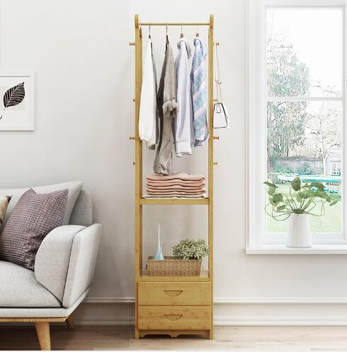 2019 Clothes Rack Landing Simple Clothes Rack Provincial Space Multi  Functional Small Bedroom Creative Collection Clothes Racks Bedroom  Furniture From ...