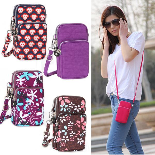 Nuovo 2019 donne cellulare semplice caso della cassa della cinghia della falda della spalla crossbody mini borsa della moneta della borsa della borsa per iPhone 8 7 case 6s