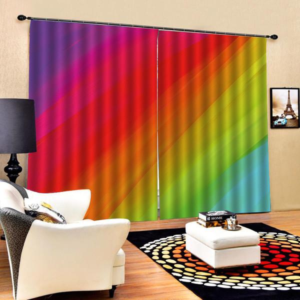 Großhandel Regenbogen Vorhänge Farbe Vorhang 3D Blackout Vorhänge  Wohnzimmer Schlafzimmer Hotel Fenster Von Pureairr, $175.01 Auf  De.Dhgate.Com | ...