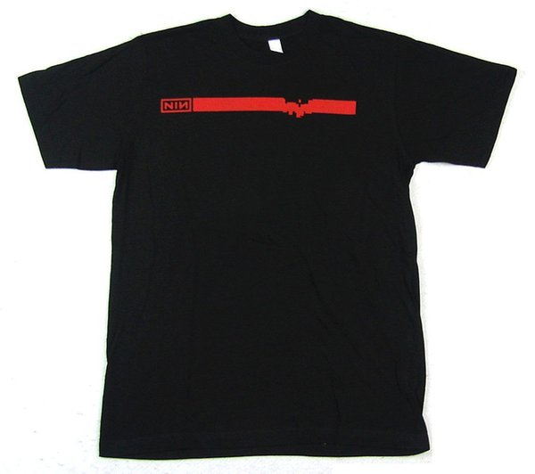Nine Inch Nails Slip Lights in Sky 2008 T-shirt Black Tour MEX-NV Nouveau T-shirt Officiel pour hommes à manches courtes T-shirt à col rond