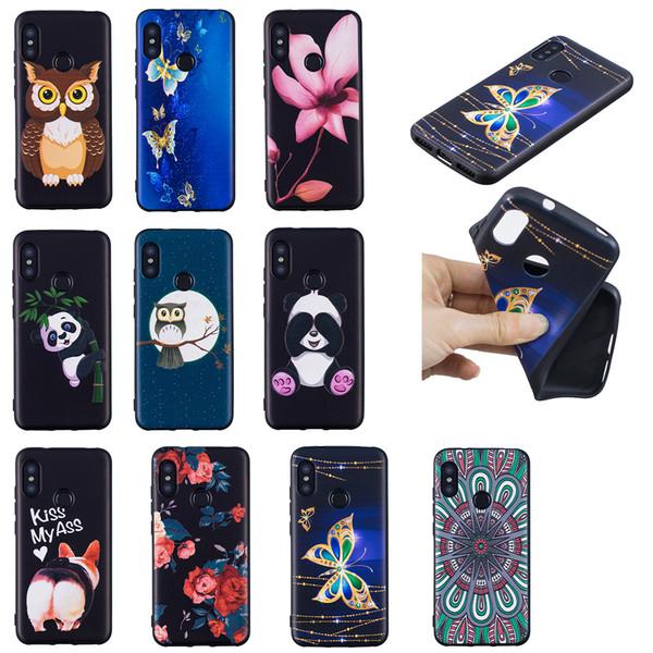 Soft TPU Back Phone Case For LG K10 2017 Slim Fit Flower butterfly owl panda Case for LG K8 2017 Cover