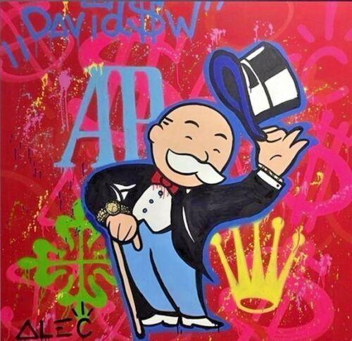Alec Monopoly pittura a olio su tela complementi arredo casa foto arte parete alta qualità dipinta a mano HD stampato arte urbana astratta decorazione della parete AP