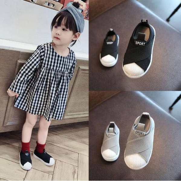 2019 New arrival designer shoes Shell head sports shoes Cloth Boy girl casual shoes 599