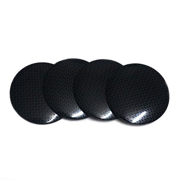 4 PCS SET Алюминиевого 56MM Выпуклых крышек центра колеса герб Наклейка Значки шины украшение углеродное волокно текстура