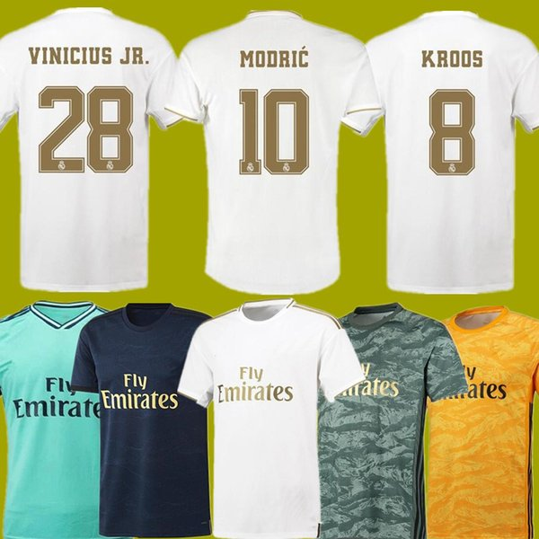 Hazard 19/20 Real Madrid Fußball Trikot 2019 2020 Real Madrid Trikots BENZEMA SERGIO RAMOS KROOS 19 20 Fußball Trikots Maillot Real Madrid
