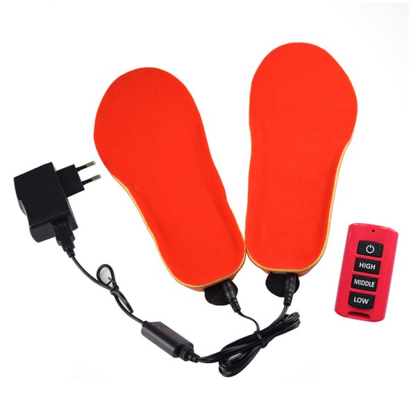 Women Men Insoles Electric USB Thick Boots Remote Control Pad Heated Winter Shoes Warm 1 Pair