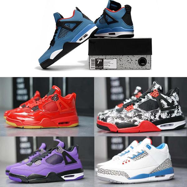 Travis Scott 2019 neue Basketball-Schuhe für Männer desiger Tätowierung heißen Lava schwarz Laser Travis Scotts Kaktus schwarz weiß Jack Zement Größe 4 0-46