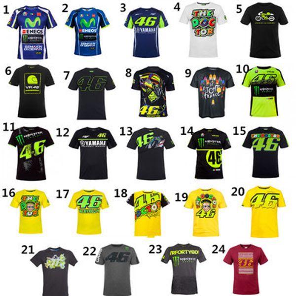 top popular VR46 MOTO GP MTB Bike Clothing Cycling Series Jerseys short Sleeve Top Downhill Racing Motorcycle Motocross Off-road Fox TLD T-shirt yamaha 2019