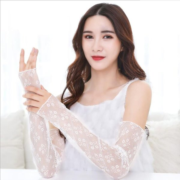 Women's Arm Warmers Reasonable Womens Summer Sun Protection Sleeves Mesh Lace Uv Thin Long-sleeved Bike Breathable Cycling Gloves Driving Arm Warmers Sleeves Apparel Accessories