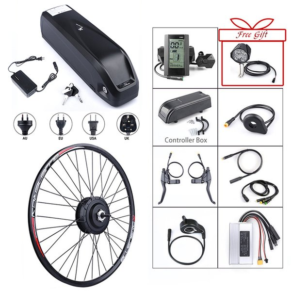 E-bike Front Hub Motor 48V 500W Bafang Brushless Gear Electric Bicycle Conversion Kits with 12Ah Battery Built in Samsung Cells