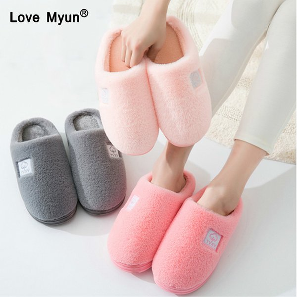 Women Winter Warm Ful Slippers Women Slippers Cotton Sheep Lovers Home Slippers Indoor Plush Size House Shoes Woman wholesale778