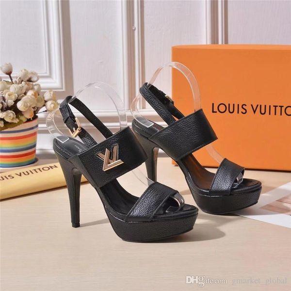 New HORIZON PLATFORM SANDAL 1A4XRS Women Sandals Luxury Designer shoes Stiletto sandals Leather HORIZON PLATFORM SANDAL Belt box
