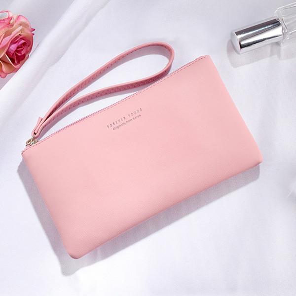 8Colors Frauen PU-Mappen-Handgriff-Telefon-Kasten langer Abschnitt Geldtasche Tasche Handtasche Damen Clutch Wallets