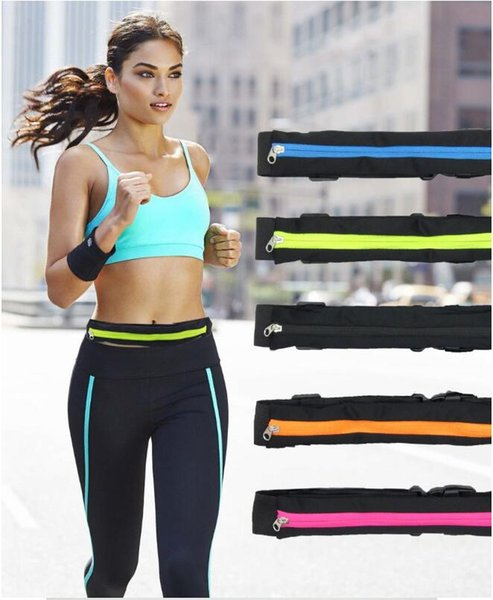 best selling Outdoor stretch sports waist bag men and women fitness running cycling waist pack anti-theft waterproof mobile phone bag invisible belt