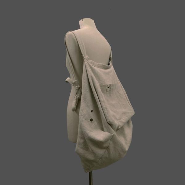 2019 NEW WOMEN large canvas backpack ladies national handmade big bags fluid shoulder bags casual vintage bags T190925