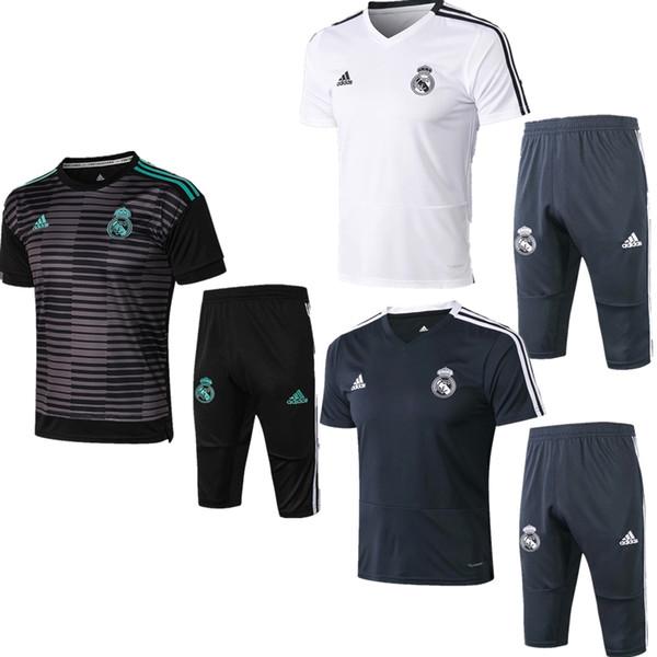 Best sale new 18 19 season Real Madrid jacket Bell short sleeves T-shirt 2018 2019 tracksuits soccer jersey hazard benzema training shirt