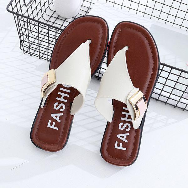 Women's Slippers Summer Beach Slippers 2020 Casual Beach Women's Shoes Slippers Summer Home Flat Flip-Flops