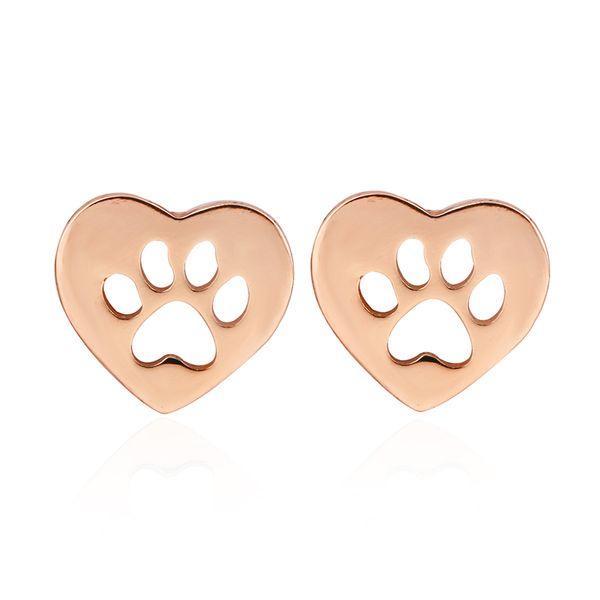 Симпатичные животные кошка собака лапа в форме сердца шпильки серьги гипоаллергенные для женщин девушка