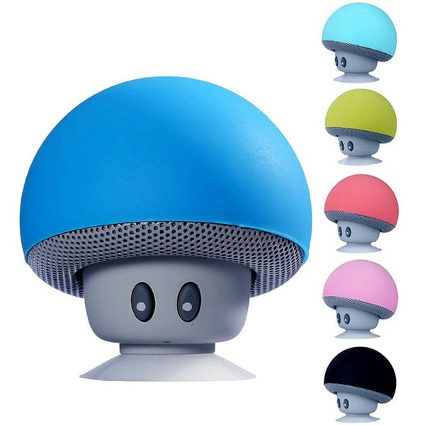 Mini Wireless Bluetooth Speaker MP3 Music Player with Mic Portable Stereo Mushroom cartoon Speaker For cell Phone PC