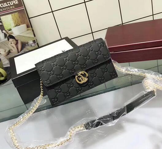 Vera pelle femminile 2018 nuove borse casual catena selvaggia lettera modello versione coreana della borsa a tracolla
