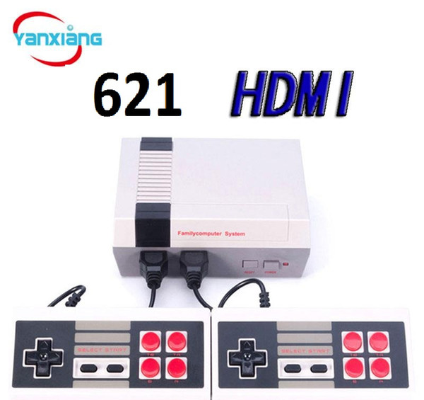 best selling 10PCS NES 621 HDMI Handheld Game Console Video Consoles 2 Controllers Portable For NES Games YX-621-A