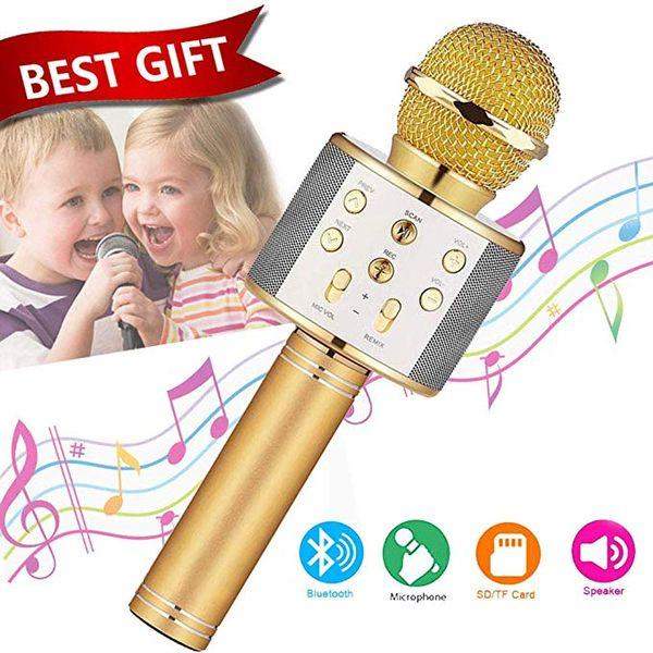 Wireless Bluetooth Karaoke Microphone - Best Toy Gift for 5-15 Year Old Girls Boys,Niskite Handheld Portable Singing Karaoke Mic For Kids Ad