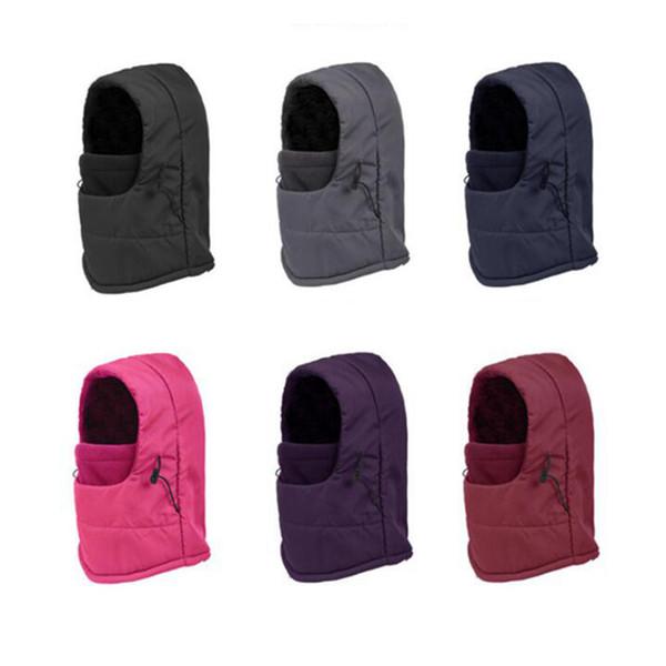 Outdoor inverno equitazione caldo cappelli antivento multi-funzionale freddo impermeabile copertura della testa maschera sport e tempo libero cappello ZZA524