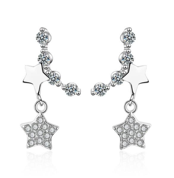 Ear Nail 925 Earrings Personality Simple Pentagonal Star Earrings Hot Selling Jewelry