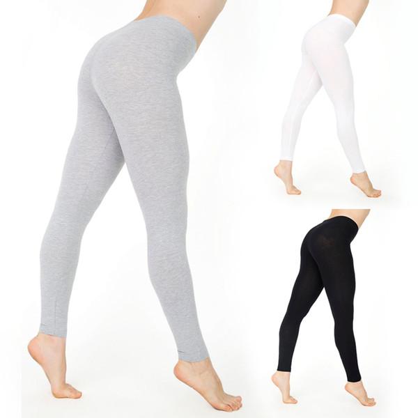 Moda Feminina Senhoras Slimming Calças Skinny Shapewear Quente 2019 de Fitness Legging Estiramento Cintura Alta Calças Calças Preto Cinza Branco