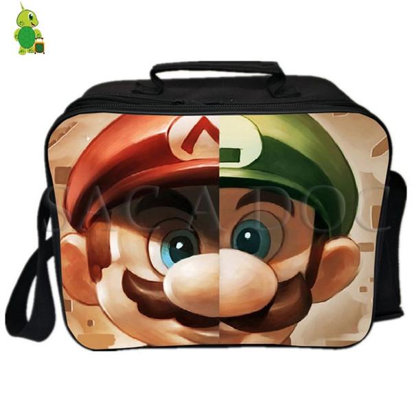 Super Mario Mario Luigi Split Lunch Bag Fresh Keeping Cooler Bag Insulation Thermal Lunch Ice pack Women Men Picnic