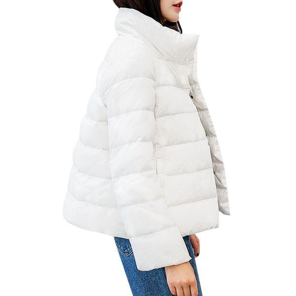 Women Coats Stand Collar Long Sleeve Pockets Waterproof Parkas Lightweight Down Women Coat Jacket Parkas Female Outwear