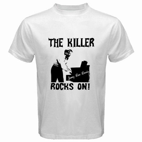 New Jerry Lee Lewis The Killer Music Legend Men's White T-Shirt Size S to 3XL