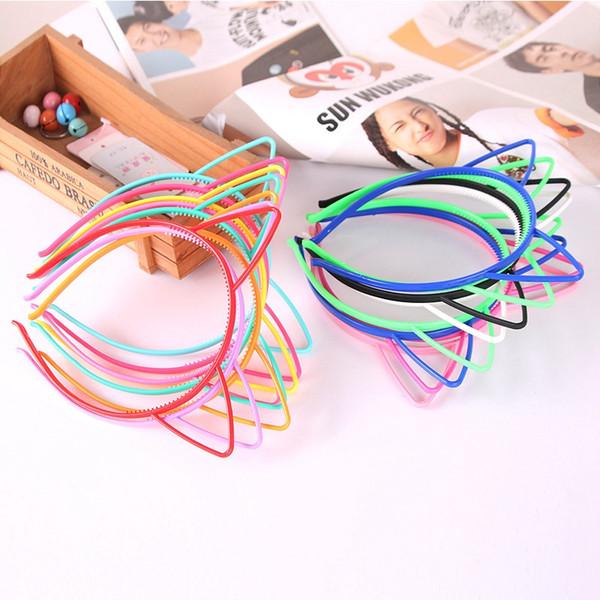 Kedi Kulak Hairband Çocuk Kız bebekler Kafa Şapkalar Güzel Renkli Çocuklar Noel Saç Aksesuarları HHA1049 Sticks