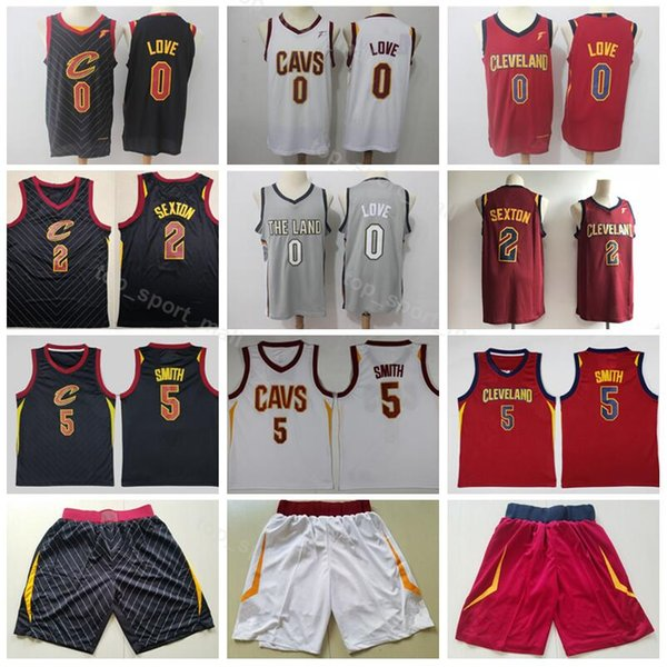 finest selection 39154 6d356 2019 Basketball Men Cavaliers Jerseys Cleveland 2 Collin Sexton 0 Kevin  Love 5 Jr Smith Jersey Short City Edition Black Red White Grey High From ...