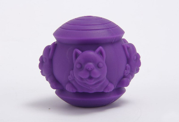 1PCS Pet IQ Treat Ball Pet Silicone Leaking Puzzle Toy Ball Dog Fun Tumbler Leaking Food Ball Dog Self Feeding Toy