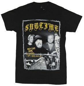Sublime Mens t-shirt - Live Show quarta 22 1995 impressão foto imagem