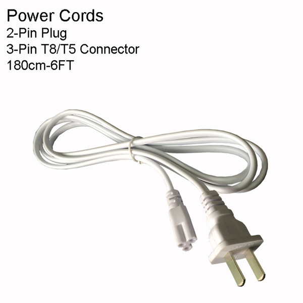 6FT 2PIN US Power Cords Without Switch