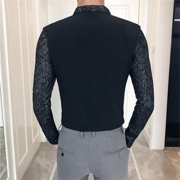 Großhandel Weiß Herren Hemd Langarm Slim Design Hemd Herren Herbst Herren Hemden Schwarz Asia Größe S M L XL XXL XXXL Von Zhenghexiang89, $31.32 Auf