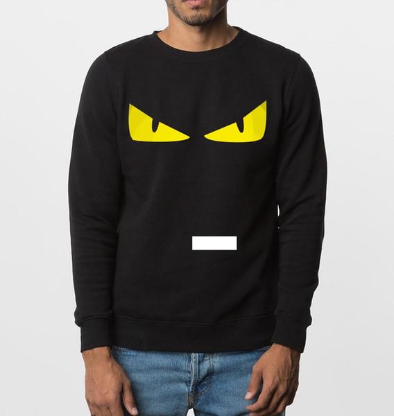 Wholesale- funny sweatshirt new autumn winter Angry eyes men hoodies hip hop style brand clothing fleece top hooded tracksuit