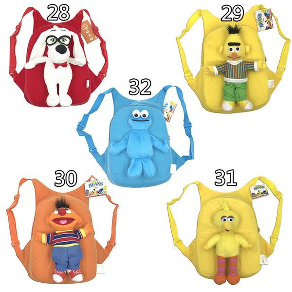 top popular Plush Backpack School Bag Girl Boy Kids Children School Cartoon Animal School Bag for Kids Kinderegarten Spiderman Iron Man Bag 2019