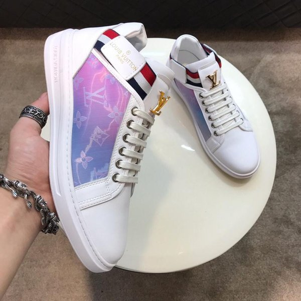 Fashion Luxury Nice Women Sports Shoes Luxury Casual Leather Shoes Men All Leather Sport Sneaker Personality Trainer Dress Party Shoe Daily
